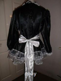 Sissymaidsadult Babyunisexcd/tvfetish Satin & Organza Dress & Apron