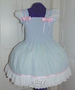 Sundress Cotton Mint Sissy Lolita Adult Baby Dress Aunt D