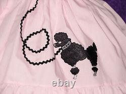 Sundress Cotton Pink with Black Poodle Sissy Lolita Adult Baby Dress Aunt D