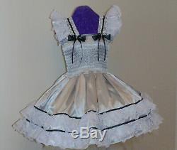 Sundress Satin Blush Pink Lolita Sissy Adult Baby Dress Aunt D
