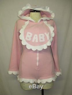 Trashy Costumes Pink BABY Sissy Snap Booty Romper Adult Costume Large