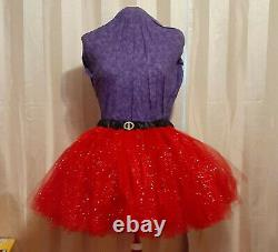 Tutu Red Glitter Santa Style Sissy Lolita Adult Baby Aunt D
