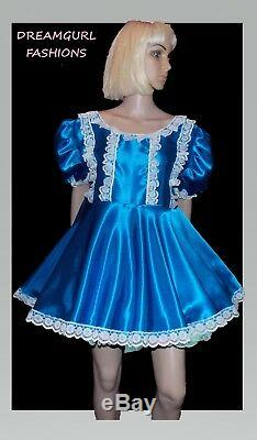 Unisex short adult baby dress, Fancy dress sissy cosplay lolita 4 row