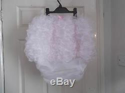 Unisexadult Babysissymaids Pvc Lined Organza Frou Frou Frilled Nappy Cover