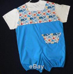 WYSIWYG Adult Baby Sissy Dress Up WHALE ROMPER 2 pc Set Binkies n Bows