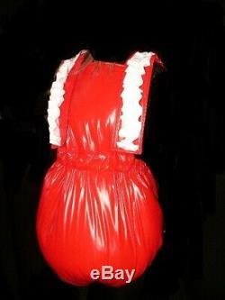 Y27 Adult Baby Sissy stuffed PVC Spreading diaper Spreizhose &cap