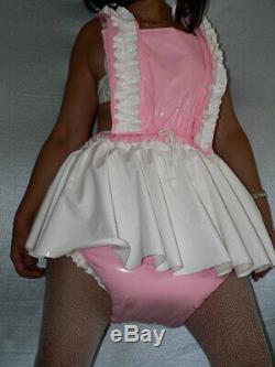 Z16Adult Baby Sissy pvc dress with sewn in diaper pantykleid & Spreizhose