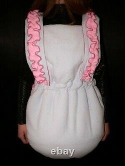Z2 Adult Baby Sissy stuffed FLEECE Spreading diaper Spreizhose
