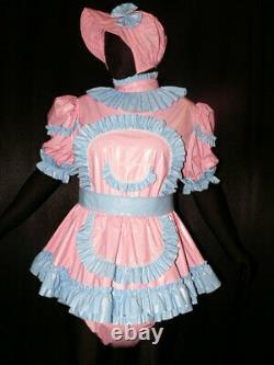 Z20Adult Baby Sissy pvc dress with sewn in diaper pantykleid & Spreizhose