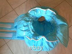 Z32Adult Baby Sissy stuffed PVC Spreading diaper Spreizhose