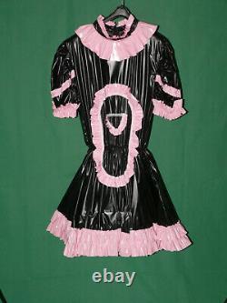 Z33Adult Baby Sissy pvc dress with sewn in diaper pantykleid & Spreizhose