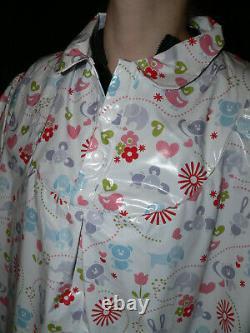 Z54Adult Baby Sissy dress kleid Kittel Nachthemd PVC