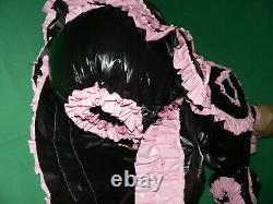 Z8Adult Baby Sissy pvc dress with sewn in diaper pantykleid & Spreizhose