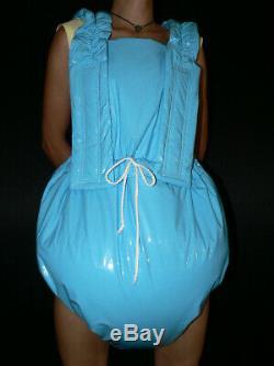 Z93Adult Baby Sissy stuffed PVC Spreading diaper Spreizhose