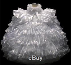 #d17 Bbt Adult Sissy Ruffles Satin Baby Prissy Dress