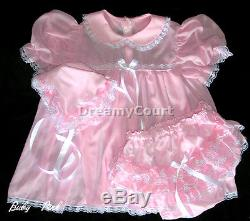 (special 3 Sets Pack) Adult Sissy Chiffon Baby Dress